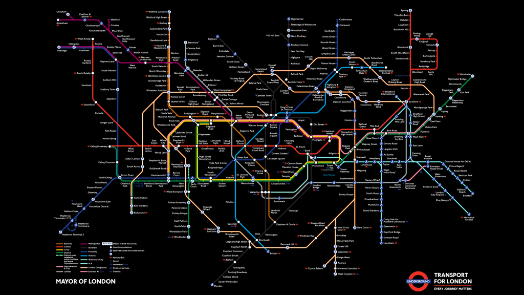 Tube Map in Black by thy4205 Transport