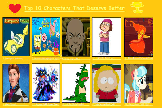 Top 10 Characters That Deserve Better