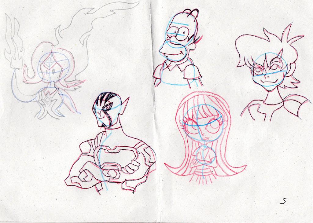 Random Sketchdump by TheDarkBrawler90