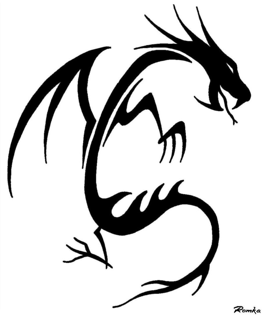 draco tribal by truezealot on deviantart