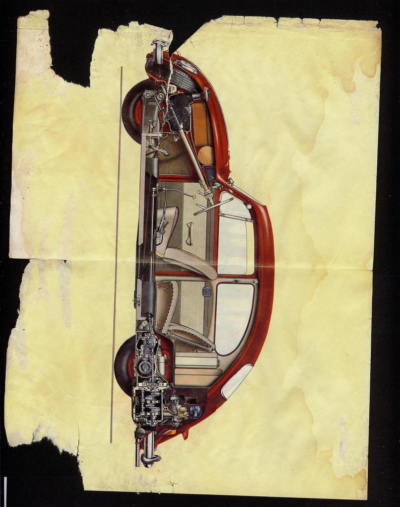 1964 Vintage Volkswagen Car by pandoraicons
