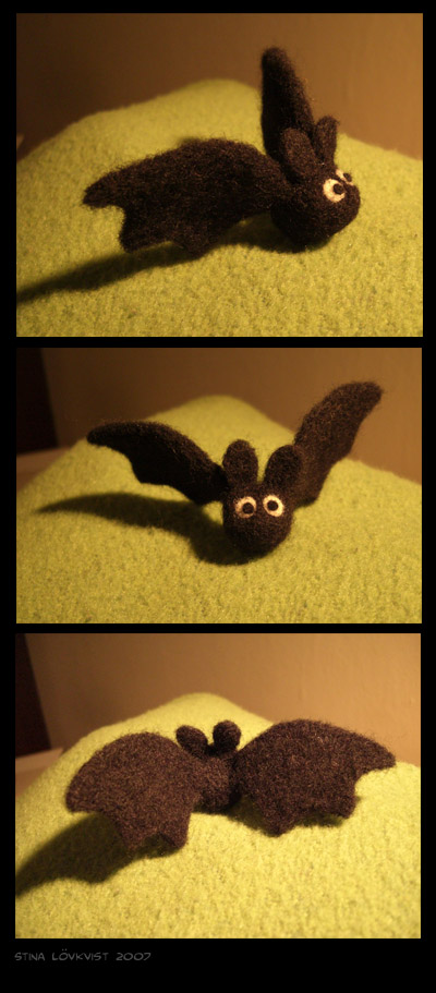 Needle felting - bat by spocha
