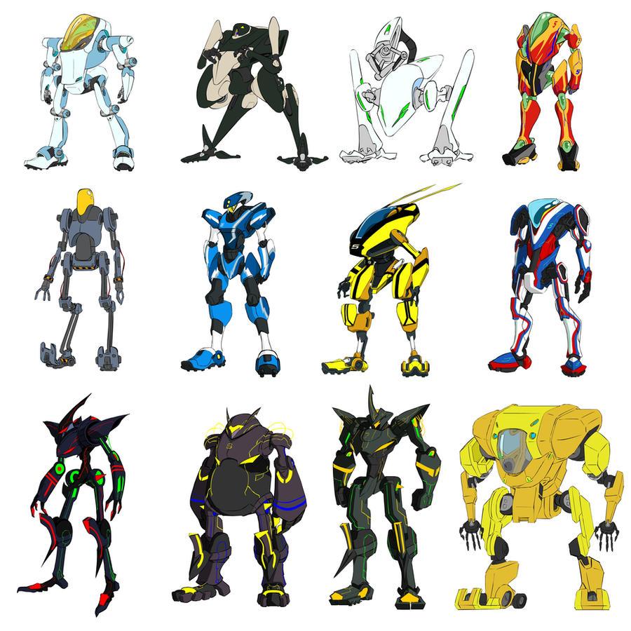 Random Civilian mech and robot by dlredscorpion