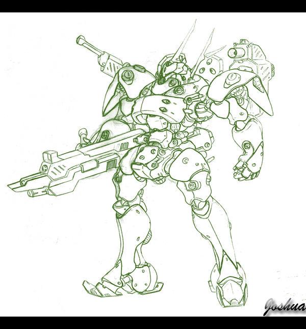 Hunter's Mech Concept by dlredscorpion