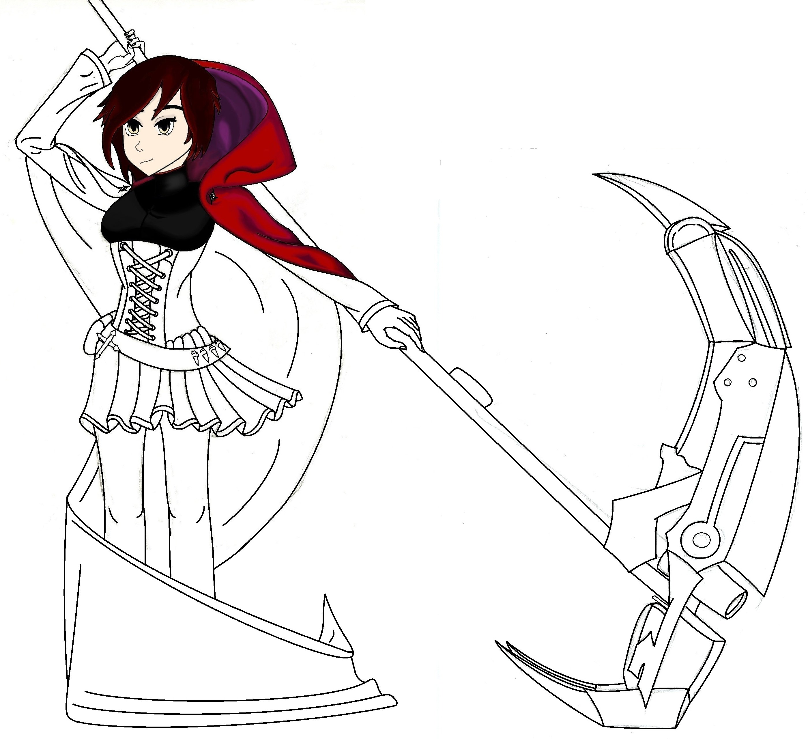 Rwby Draft finished but yet to be painted! by ALEXACEDEATH