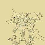 Friends 'til the end (line art)