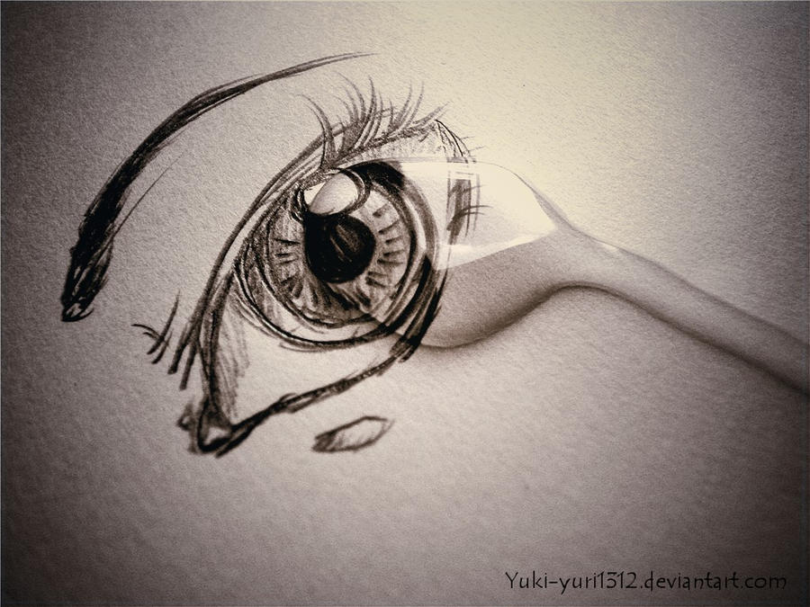 tear on my eye by yuki yuri1312 on deviantart