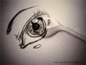 Tear on my eye