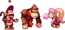 DK, Diddy and Dixie by Dvor-ak