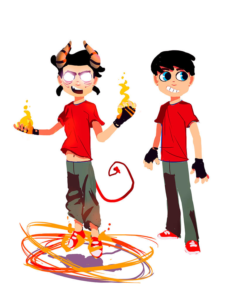 demon boy concept by VVades