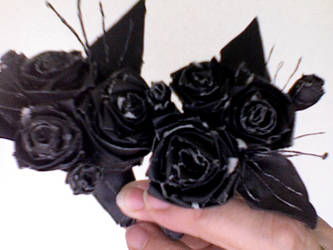 gaff tape corsages by Onaniel