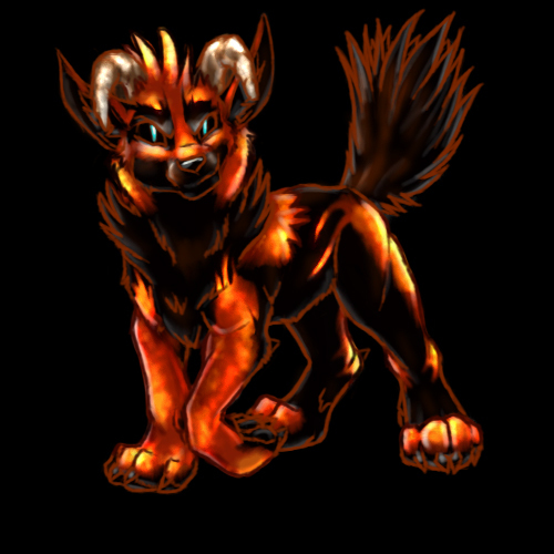 Deus as a Pup Hellhound by TheTyro on DeviantArt: thetyro.deviantart.com/art/Deus-as-a-Pup-Hellhound-62855268