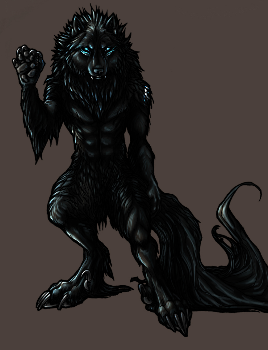 Bipedal type Wolf of Shadows by TheTyro