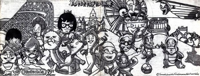 Super Pesto Bros. Deluxe (Lineart)