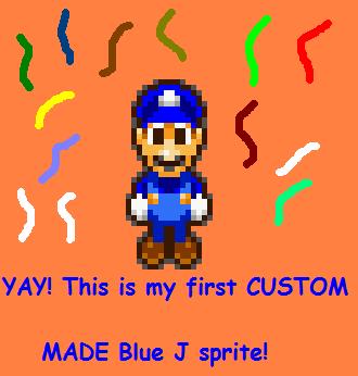 First custom Blue J sprite by BlueMario