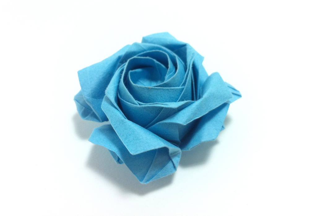 Pentagon Rose, calyx and leaves ( FULL... - Mariano Origami Art ... | 699x1024