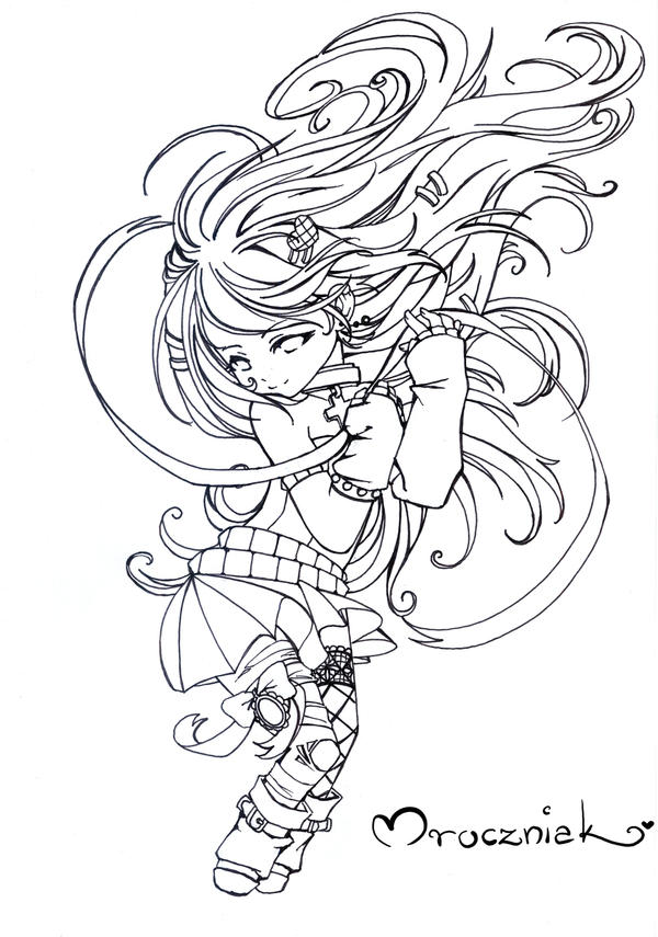 chibi pretty mermaid coloring pages - photo#31