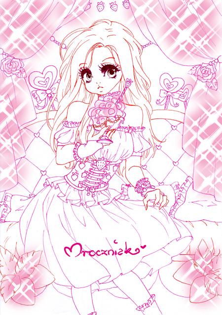 ..::Strawberry Girl::.. lineart by MroczniaK