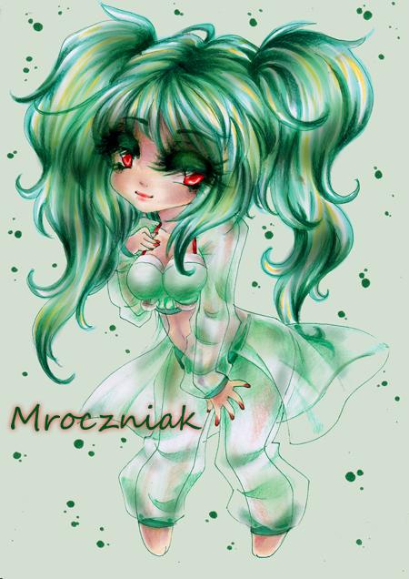 .Green Girl. by MroczniaK