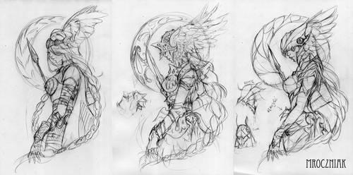 Valkyrie tattoo design~ by MroczniaK