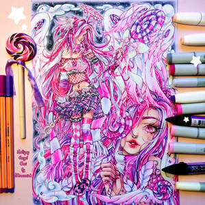 +~+ Lollipop Angel Ceci +~+ coloring video