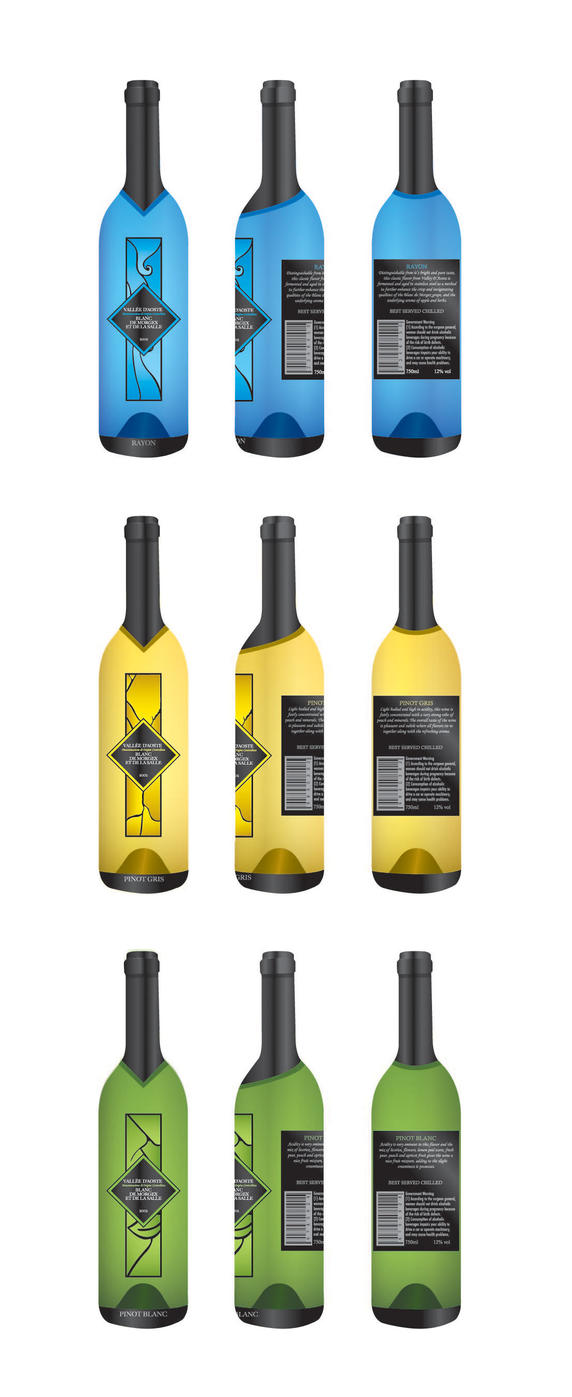 Wine Labels by icyabstractx