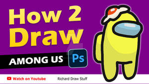How to draw Among Us Character with Photoshop !!!