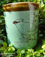Cedar Waxwing Mug by tser