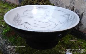 Clinging Dragon Bowl, Detail by tser