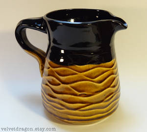 Amber Tenmoku and Black Pitcher