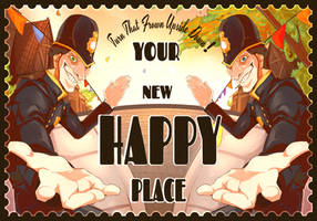 We Happy Few Contest - Postcard Entry by Goobieroo