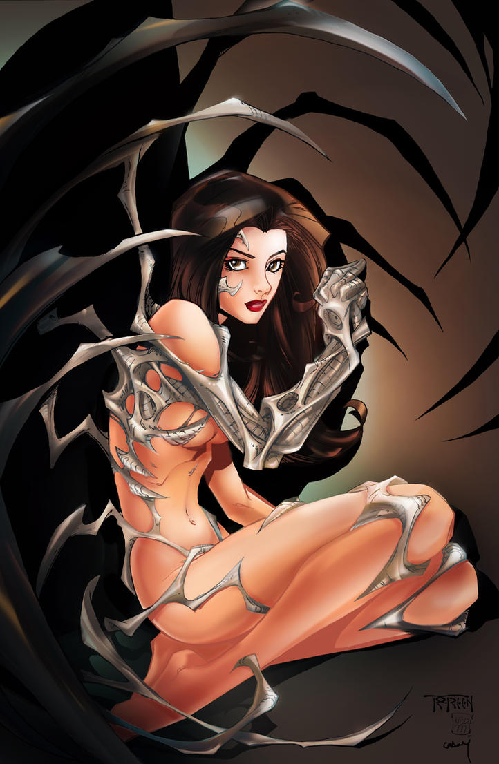 Witchblade Pin Up Colored by kcspaghetti