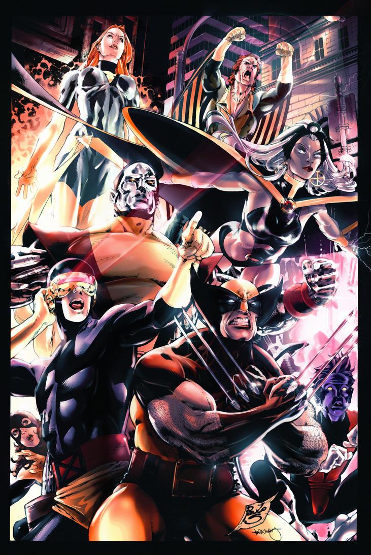 X-Men by Paulo Siqueria - BA Color by kcspaghetti