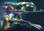 Wolverine  Spider Man And Hulk Colors