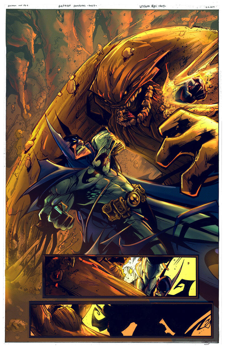 Batman Vs  Clayface Pg1 Colors 1 by kcspaghetti