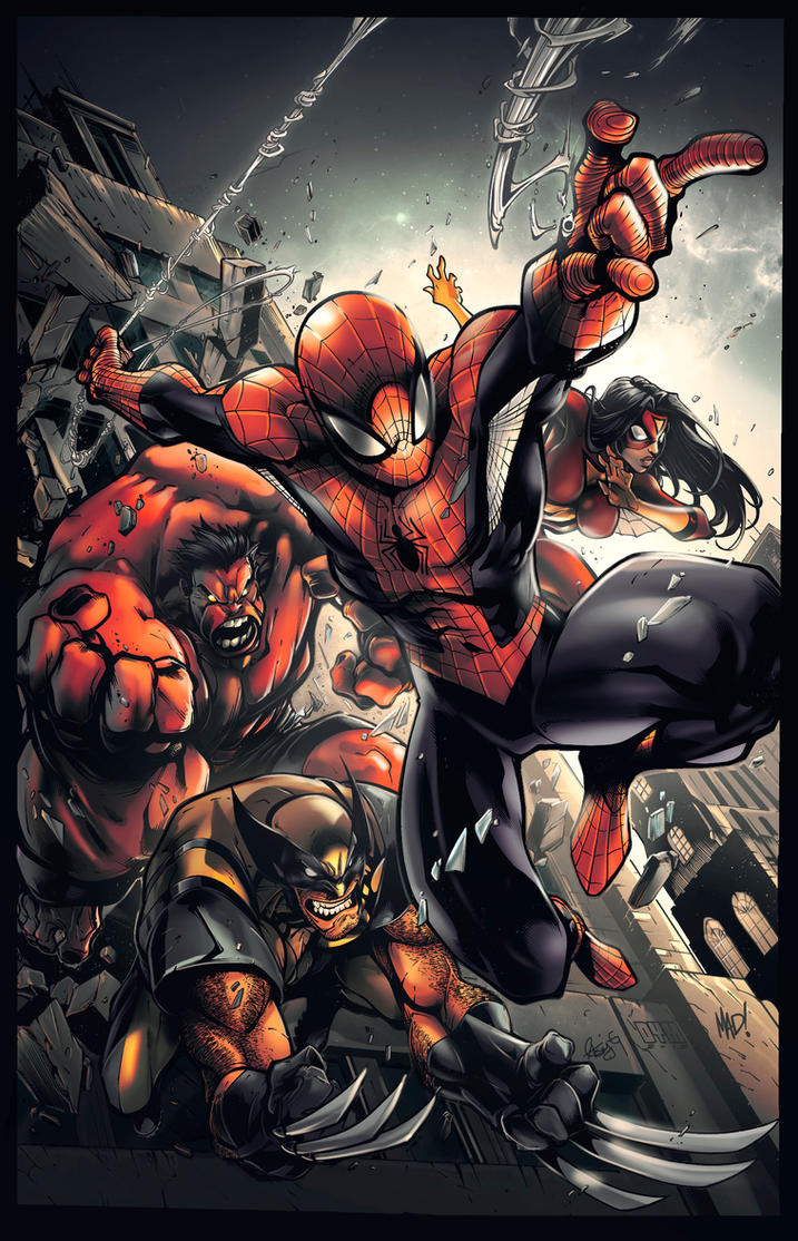 Avenging Spiderman promo by mad Colors kcspaghetti by kcspaghetti