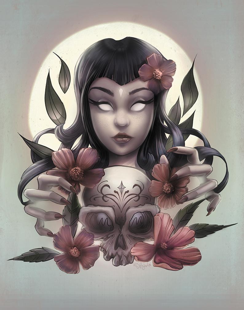 Skull Lady by kcspaghetti