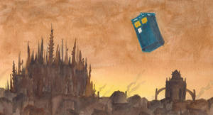 Tardis over Luthadel by LadyRoxanne7