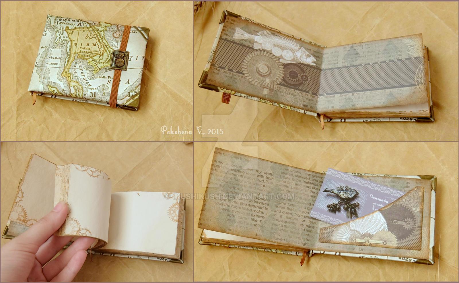 One more steampunk notebook/sketchbook by IkushIkush