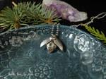 Steampunk beetle - fine silver handmade pendant
