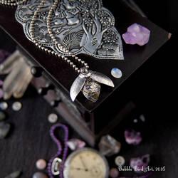 Steampunk Beetle - Fine silver pendant by IkushIkush