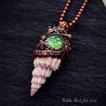 Handmade octopus pendant - Close up by IkushIkush