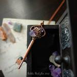 Floral key pendant