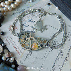 Steampunk mermaid bracelet by IkushIkush