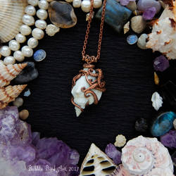 Copper tentacle and shell pendant by IkushIkush