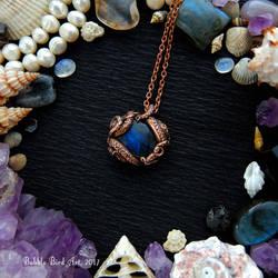 Tentacle Labradorite pendant by IkushIkush
