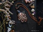 Electroformed Octopus Necklace with Labradorite