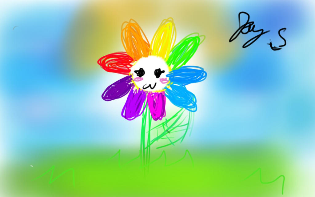 Afkmuffin joy deviantart for Rainbow petals