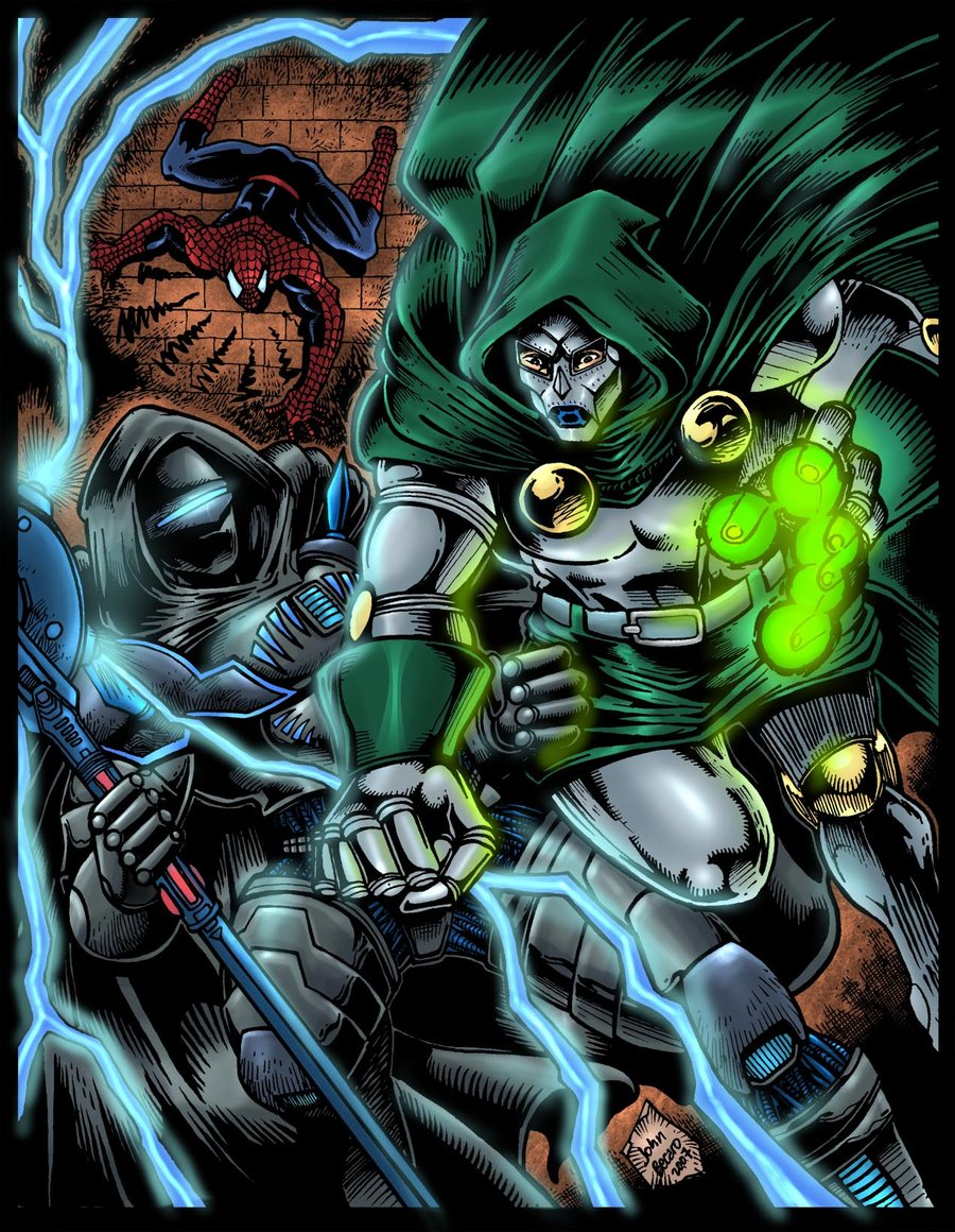 TA and Spidey vs Dr Doom by ThorsAssassin