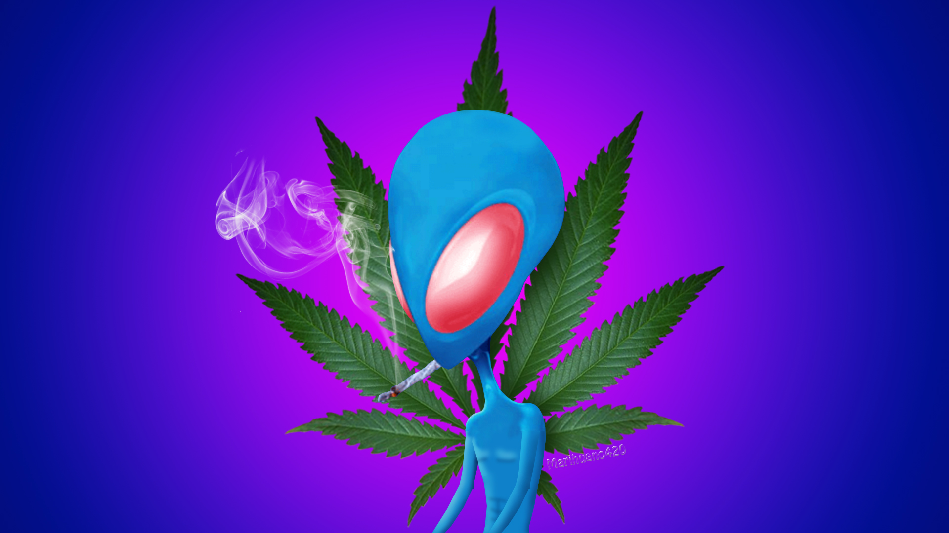 Alien Stoner By Marihuano420